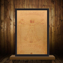 VITRUVIAN MAN POSTER - Decor Devotion