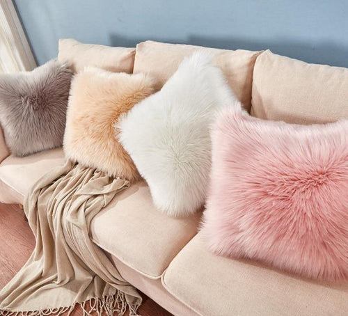 Plush & Comfortable Faux Fur Cushion Covers - Decor Devotion