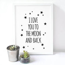 I Love You Minimalistic Wall Art - Decor Devotion