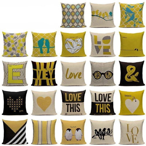 Stylish & Chic Yellow Style Cushion Covers - Decor Devotion