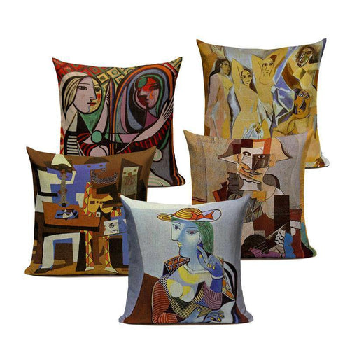 Colorful Abstract Picasso Impression Cushion Covers
