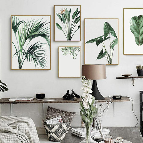 Green Watercolor Impression Plants