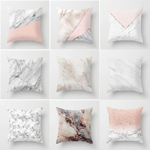 Geometric Marble Design Cushions Covers