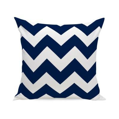 Elegant Navy Blue Patterned Cushion Covers