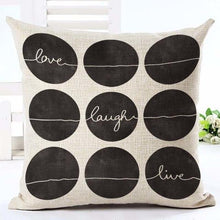 Scandinavian Inspired Graphical Text Cushion Covers - Decor Devotion
