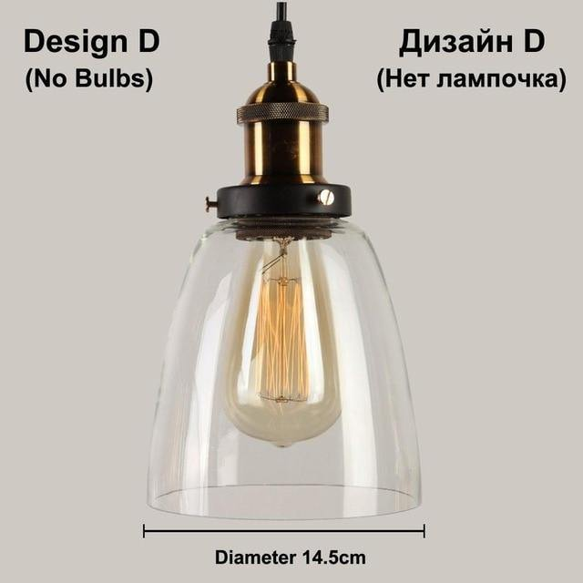 Retro Glass Pendant Light - Decor Devotion
