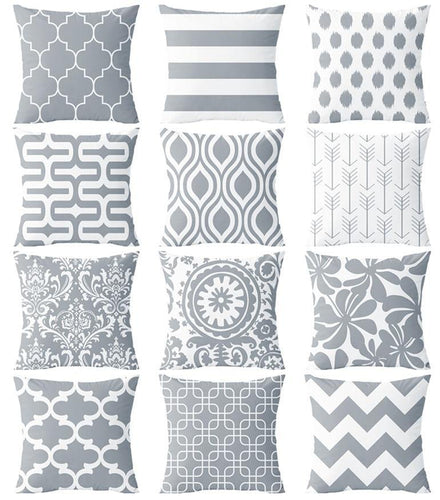 Versatile Grey Patterned Cushion Covers - Decor Devotion