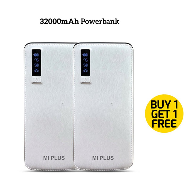 Buy One Get One Mi Plus 32000 mAh Power Bank  Free