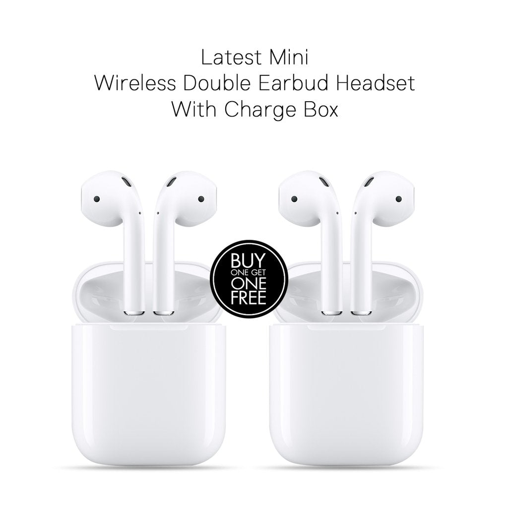 Get 2 Mini Wireless Double Earbud i7 Headset