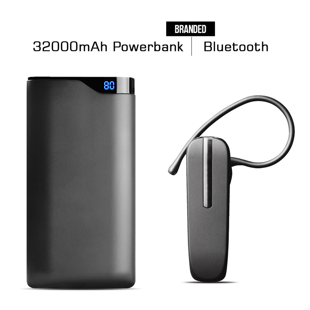 BRANDED 32000mAH POWER BANK + BLUETHOOTH