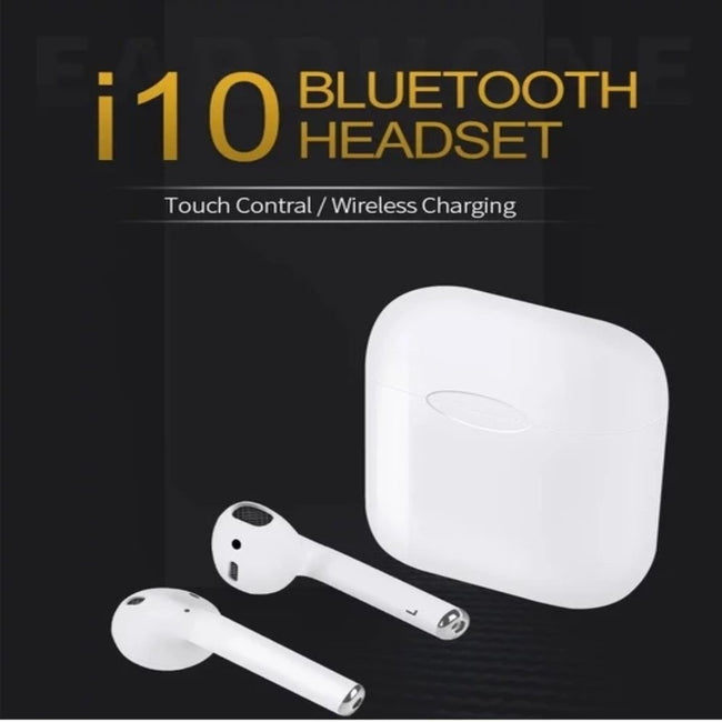 i10 Bluetooth Airpods With Charging Dock