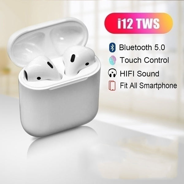 i12 Wireless Bluetooth Headset With Charging Dock