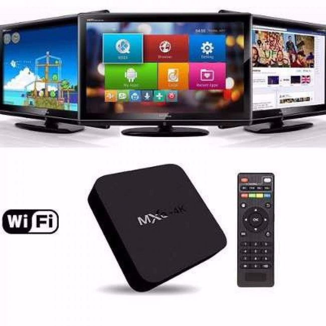MXQ Pro 4K Android TV Box with 2GB RAM/16GB ROM 64Bit Quad Core Wi-Fi