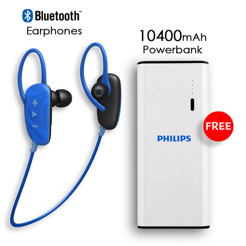 Buy Online Bluetooth Earphone And Get 10400mAh Power Bank Free