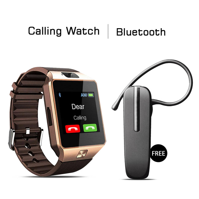 Calling Watch With Free Bluetooth Headset
