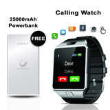 Buy Online 25000mAh Power Bank With Free  Calling Watch