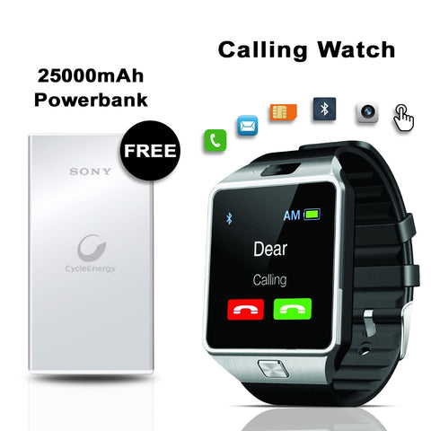 Calling Watch With free 25000mAh Power Bank