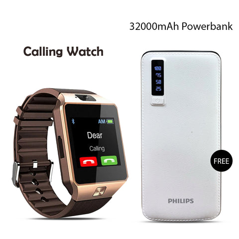 Buy Calling Watch With 32000mAH Philips Power Bank