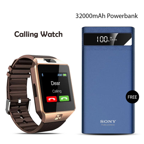 Buy Calling Watch With 32000mAH Sony Power Bank