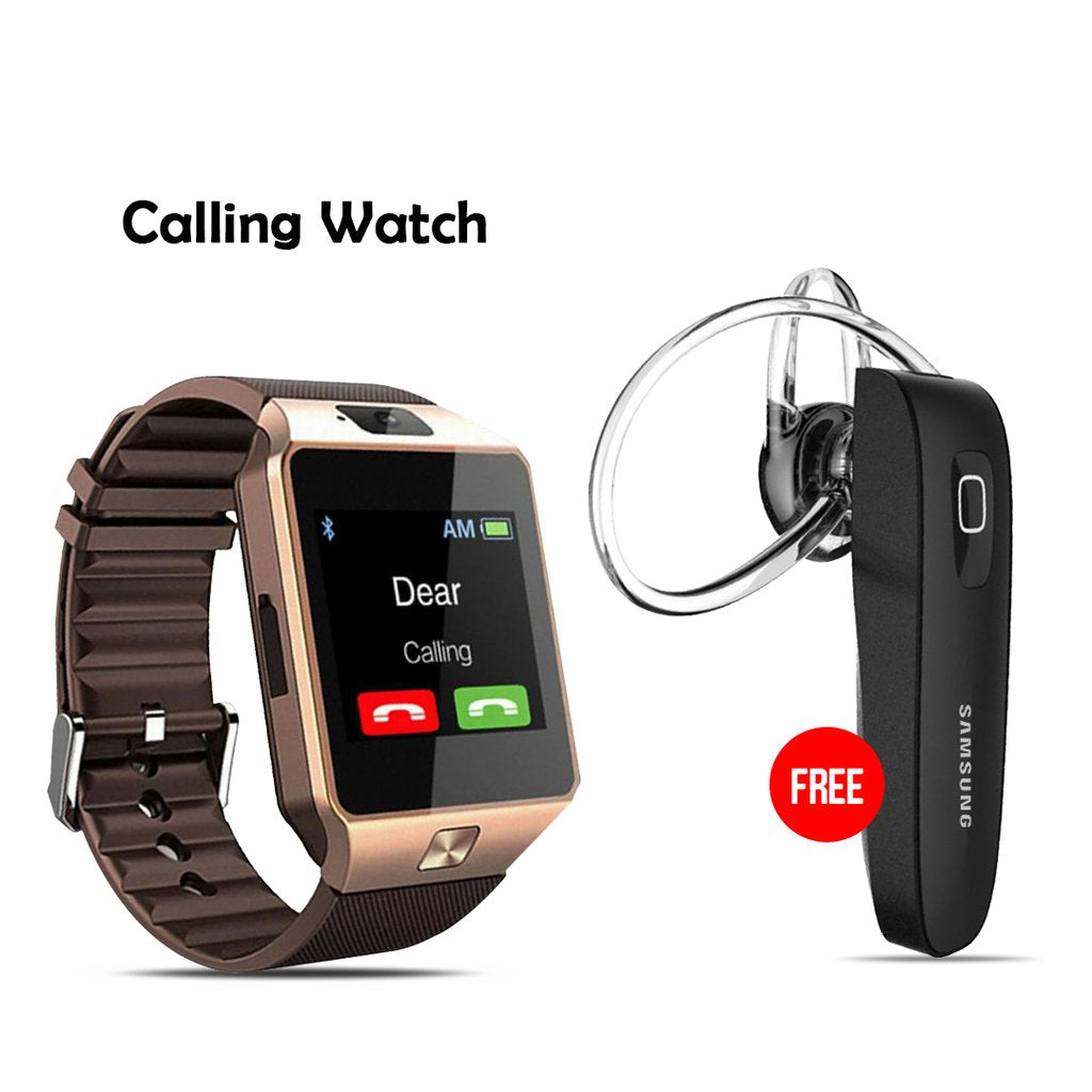 Calling Watch With Free Branded Bluetooth