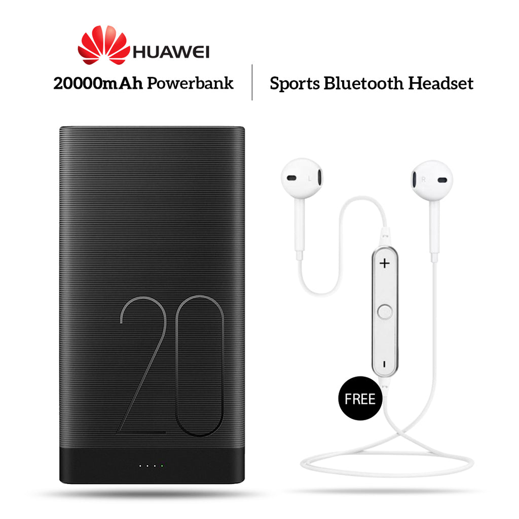 20000mAh Power Bank With Free Sports Wireless Headset