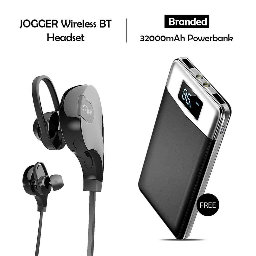 Clickcases Sports Wireless Bluetooth Headset And Get 32000mAh Power Bank Free