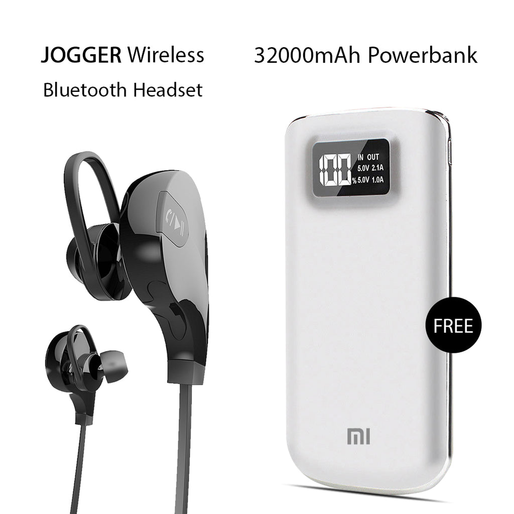 Buy Clickcases Sports JOGGER Wireless Bluetooth Headset With Free 32000mAh MI Power Bank