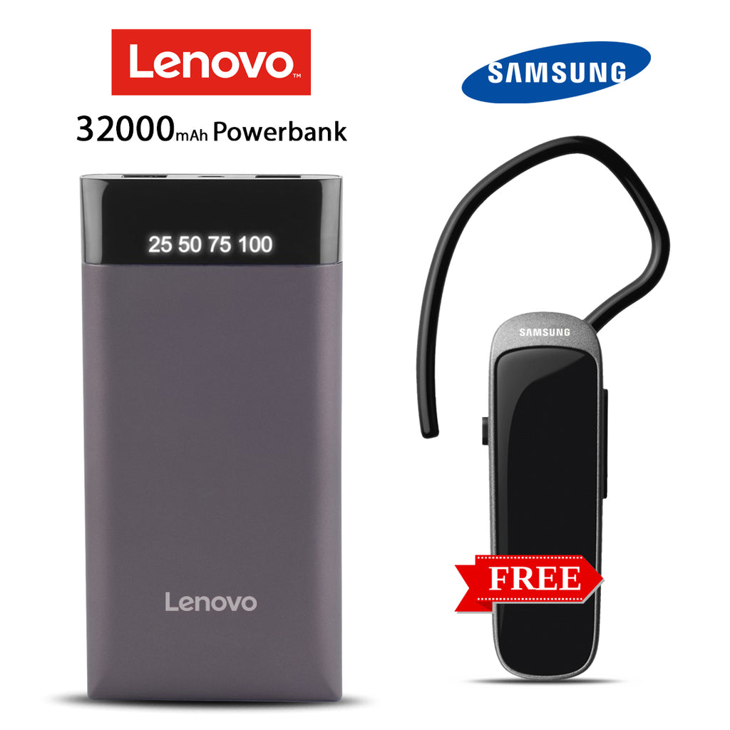 Lenovo 32000mAh power bank with free Branded Bluetooth