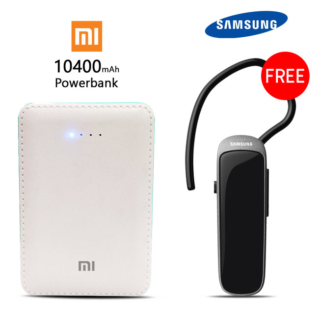 Buy Branbded 10400mAH Power Bank With Free Bluetooth Headset