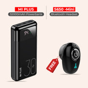 Mi Plus 32K mAh PowerBank With Mini Wireless Bluetooth Headset