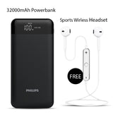 Buy 32000mAh Powerbank with Free Sports Wireless Headset