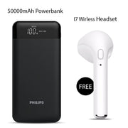 50000mAh Power Bank With Free i7 Wireless Headset
