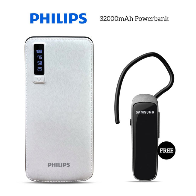 Buy 32000mAH Power Bank With Bluetooth Headset