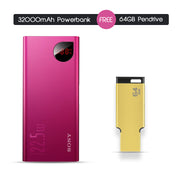 Branded 32K mAh Powerbank with 64 GB Pendrive Free