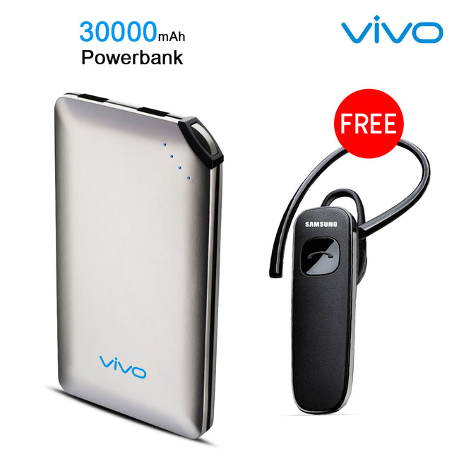 Buy 32000mAH Branded Power Bank With Free Bluetooth Headset