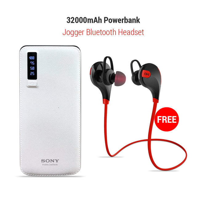 Buy Online Clickcases Sports Wireless Bluetooth Headset And Get 32000mAh Power Bank Free