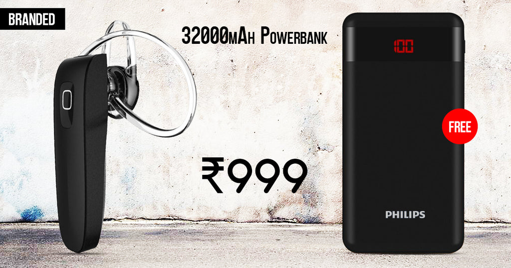 Buy Online Branded Bluetooth And Get Philips 32000mAh Power Bank Free