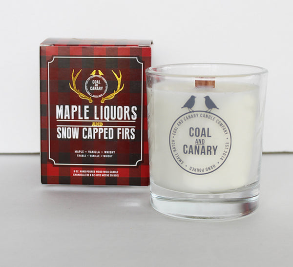 Coal and Canary - Candle Maple Liquor and Snow Capped Firs