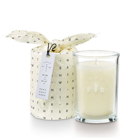 Pomander Pine Bundled Glass Candle