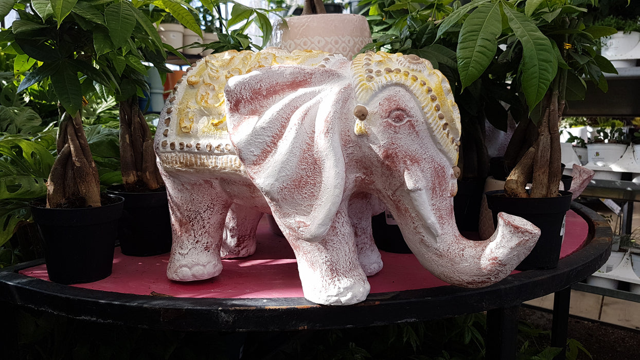 Elephant Statue Red