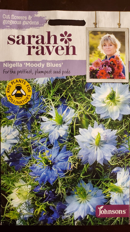 Nigella 'Moody Blues' - Seed Packet - Sarah Raven