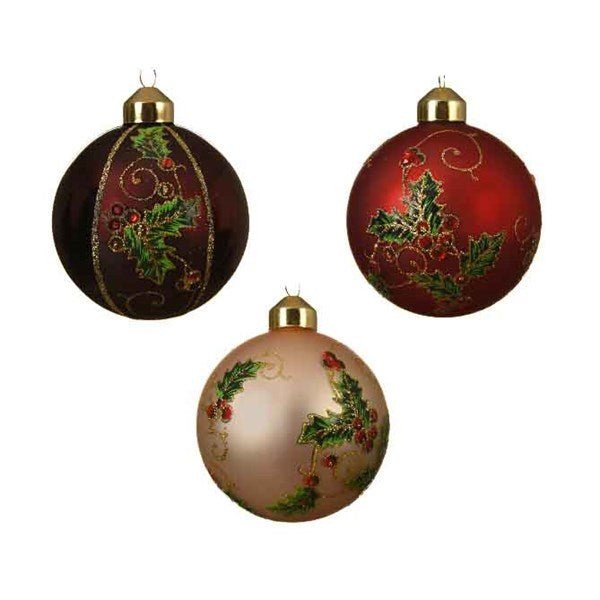 Ornament- Ball - Holly Berry