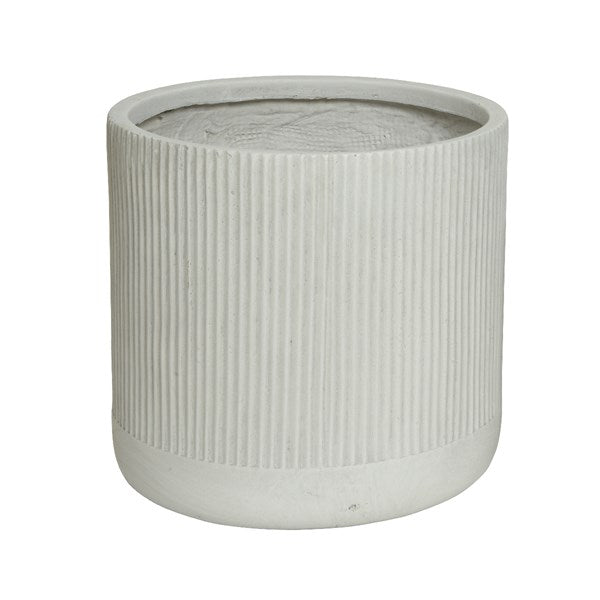 Pot - Fibreclay Stripe - Off White