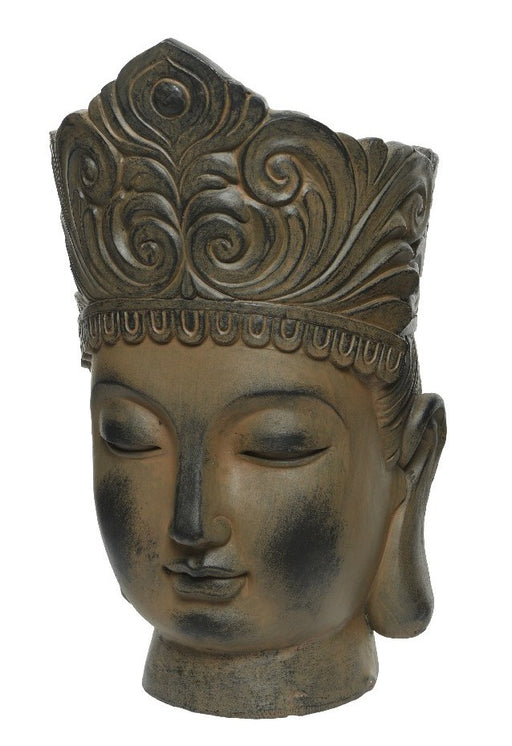 Pot Buddha Head 36 cm Brown