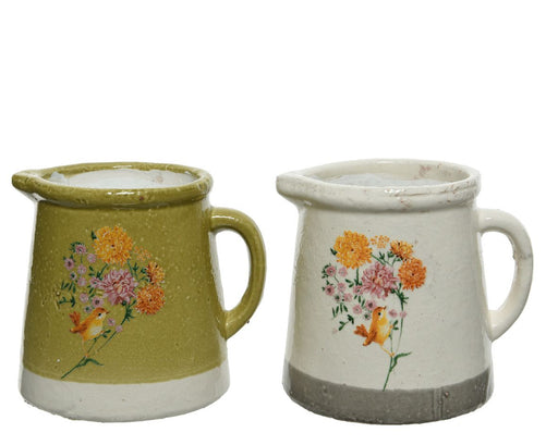 Pot Pitcher with Flower