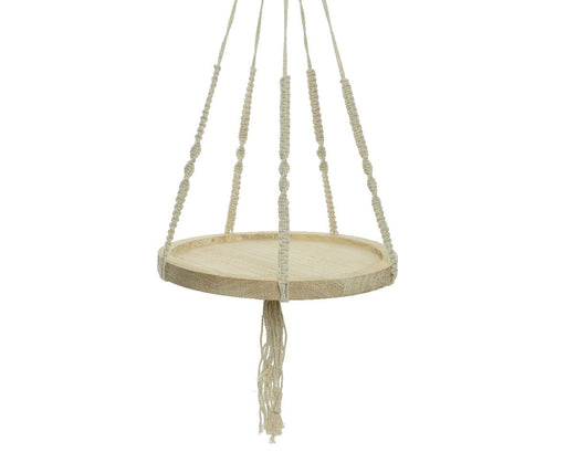Hanging Tray Wood Off White