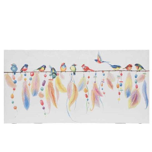 Canvas - Painting Birds / Feather