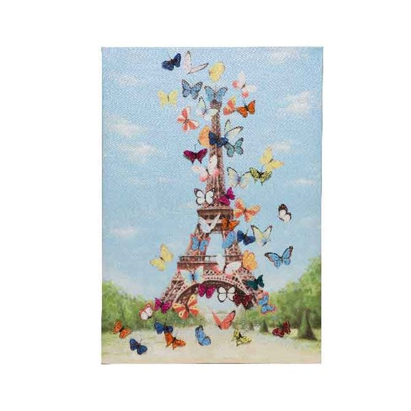 Canvas - Eiffel Tower 3D Butterflies