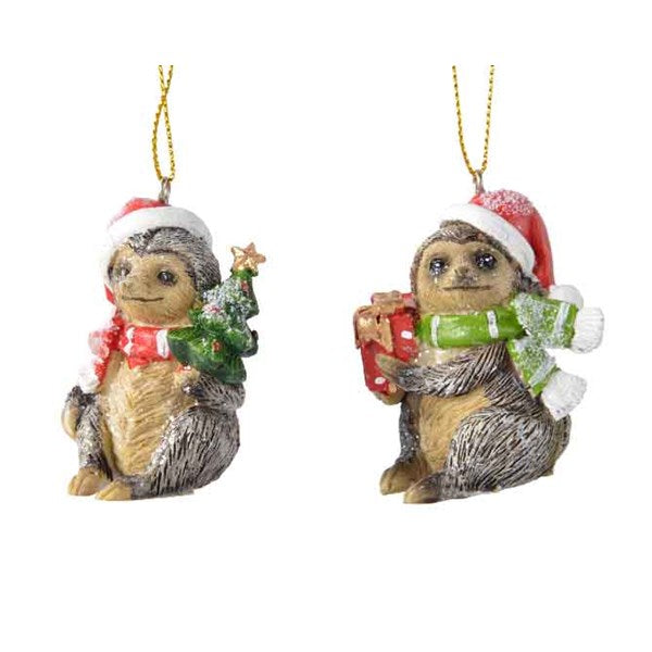 Ornament - Sloth - With Present/Tree