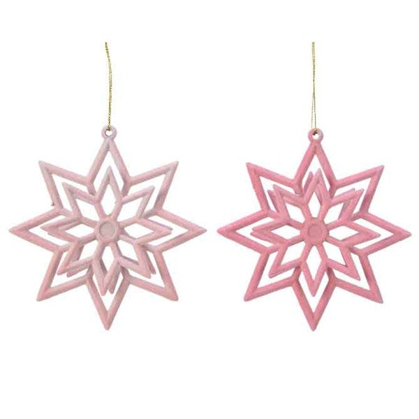 Ornament - Star - Flock
